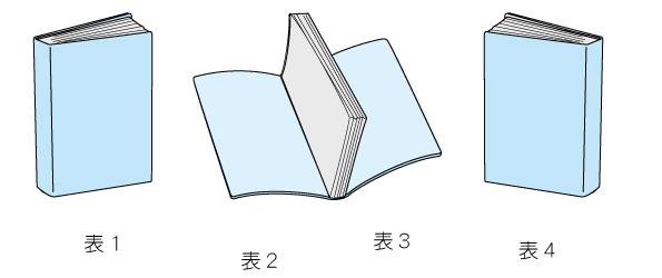 左綴じ表紙サンプル