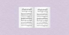 五線譜、音楽教室のオリジナル教材、楽譜集、音楽教本に最適