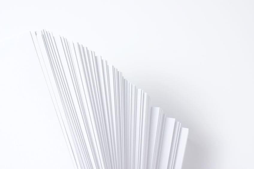 文字中心の冊子の紙選び