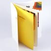 無線綴じ小冊子に片面カラーで印刷した扉を追加した作成例の画像です。