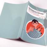 オンデマンド印刷と無線綴じ製本で作成した小冊子(英会話の学習テキスト)の作成事例で、表紙と裏表紙のデザインがわかる画像です。