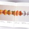 オンデマンド印刷と中綴じ製本で作成した小冊子(ZINE)を開いた本文の見開きデザインがわかる画像です。